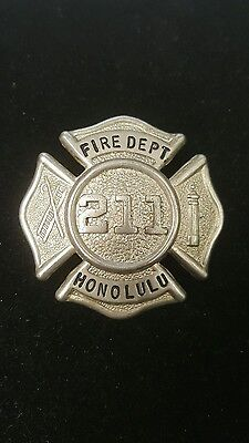 Honolulu Fire Department 211 Vintage Hat Badge