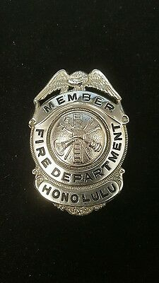 Honolulu Fire Department Engine, Hose, Ladder Vintage Badge