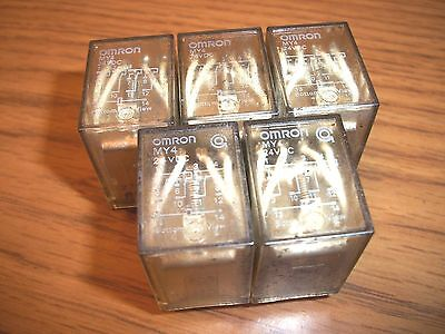 5 pack Omron MY4N Relay 24VDC Coil 14-Pin 5 Amp