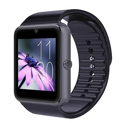 Smart Bluetooth Wrist Watch SIM Phone Mate for iPhone IOS Android Samsung Black