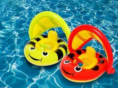 Pool Toy Mother & Baby split float safety seat with sun shade swim ring