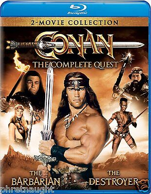 Conan: The Complete Quest Blu-Ray - Barbarian - Destroyer - Schwarzenegger