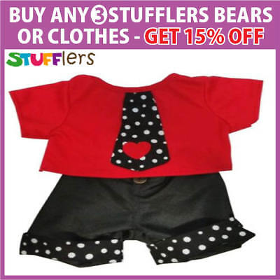 Boy Rock n Roll Clothing Outfit by Stufflers – Will fit on a Build a bear