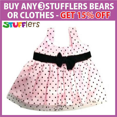 Pink Dotti Clothing Outfit by Stufflers – Will fit on a Build a bear