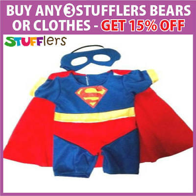 Superman Boy Clothing Outfit by Stufflers – Will fit on a Build a bear