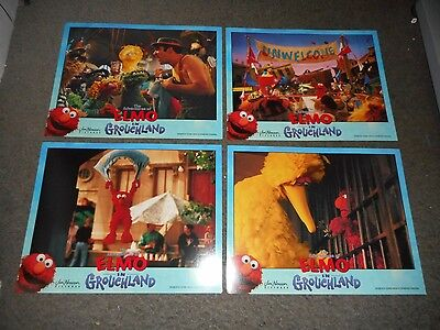 The Adventures Of Elmo In Grouchland - Original Set Of 8 Lobby Cards - 1999
