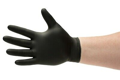 (200) Black Nitrile Medical Exam Gloves Powder-Free 4 Mil Thick Small Size