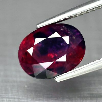 AIGS Certified 3.26ct Oval Natural Unheated Corundum Red Ruby & Blue Sapphire