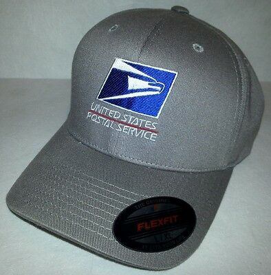 USPS FLEXFIT Embroidered Flexfit Baseball Hat Yupoong / Gray / USPS1 S/M or L/XL