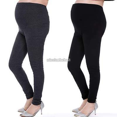 Women Cotton Pregnant Maternity Legging Overbump Adjustable Pants Tight N98B