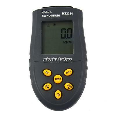 Handheld Digital Laser Photo Tachometer Non Contact RPM Tach Tester RPM Motors N