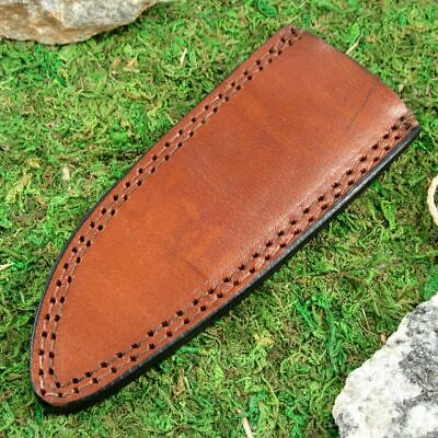 "FIXED-BLADE KNIFE BELT SHEATH Brown Leather 6.5"" - Fits up to 6"" x 1.5"" Blade"