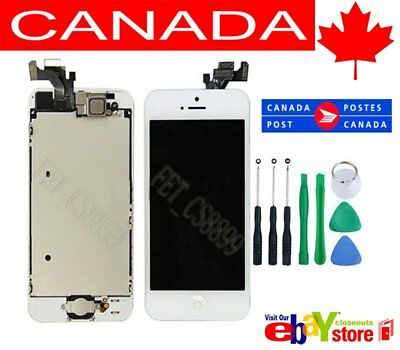 White iPhone 5 LCD Touch Screen Digitizer Replacement Assembly HomeButton Camera