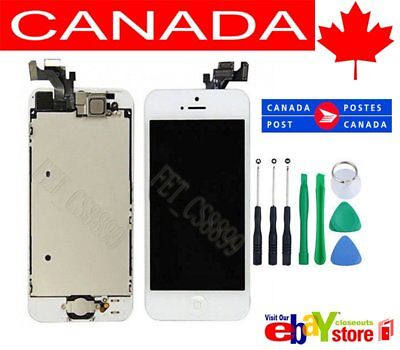 Withe iPhone 5 LCD Touch Screen Digitizer Replacement Assembly HomeButton Camera