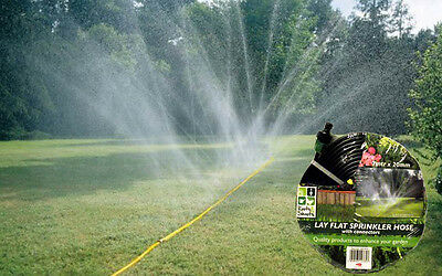 7M x 20MM Lay Flat Garden Outdoor Lawn Water Sprinkler Hose & Connectors