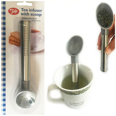 TEA Infuser Scoop Spoon Loose Leave Filter Strainer Tube Stick Stainless Gadget