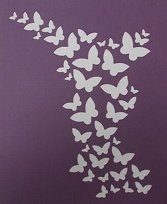 Scrapbooking - STENCILS TEMPLATES MASKS Sheet - Butterfly Background
