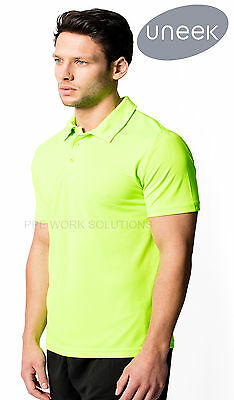 Uneek UC125 Mens Ultra Cool Polo Shirt Lightweight Polyester Breathable Sports