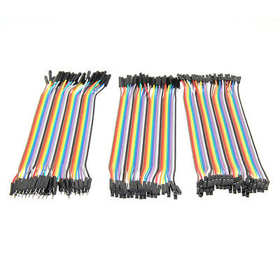 120pcs 20cm 2.54mm M/M M/FM FM/FM 1 Pin Jumper Wire Jumper Cable for Arduino