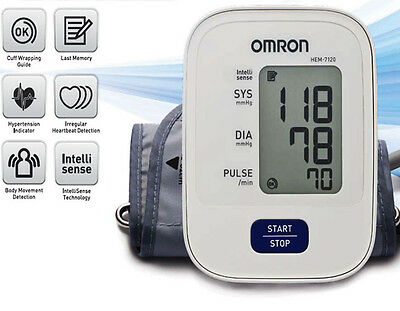 Omron Hem 7120 Upper Arm Automatic Blood Pressure B P Monitor @sf