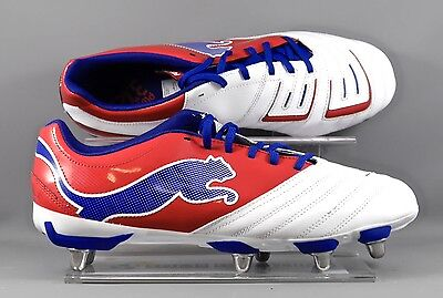 Puma (102506-02) Powercat 3.12 SG adults Rugby boots - Wht/Red/Blue