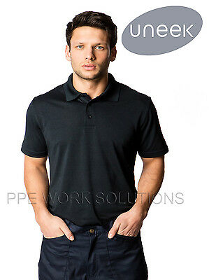 Uneek UC127 Mens Super Cool Sports Polo Shirt Anti Wicking & 100% Breathable