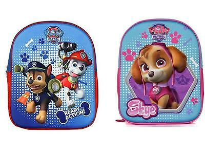 Paw Patrol 3D Boys And Girls Backpack Rucksack School Holiday Trip Bag Official