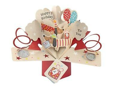 Second Nature 3D Pop Up Sausage Dogs Happy Birthday Card New Gift