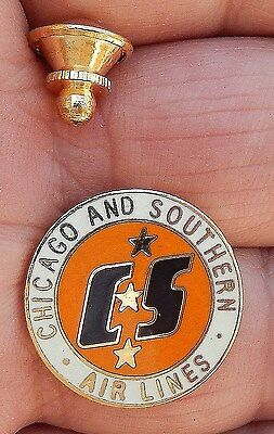 C&S Chicago & Southern Airline, Aviation Pin, Tie Tack by BBB Ltd, Jackson MS