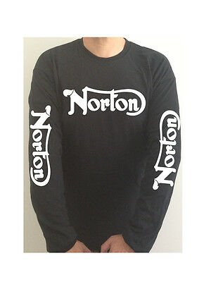 NORTON SLEEVE PRINT motorcycle t-shirt PLEASE SEE BOTH PHOTOS