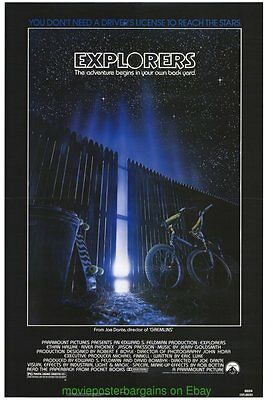 EXPLORERS & INVADERS FROM MARS MOVIE POSTER Rare N.Mint Original 27x41 One Sheet