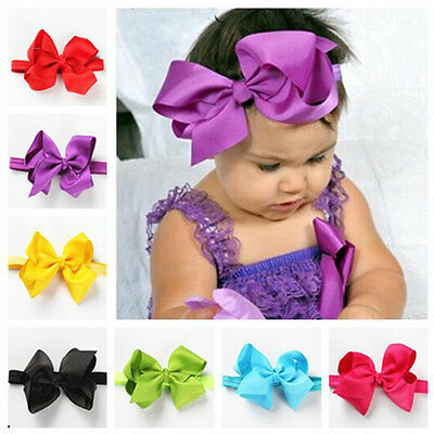 11 PCS Headband Kids Girl Baby Toddler Bow Flower Hair Band Accessories Headwear