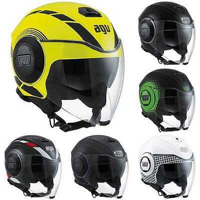 AGV Fluid Open Face Jet City Scooter Motorcycle Helmet | All Colours & Sizes