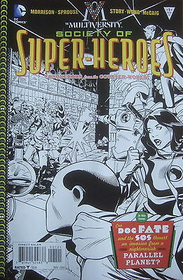 Multiversity The Society Of Super-Heroes #1 (2014) Scarce 1:10 B&w Variant Cover