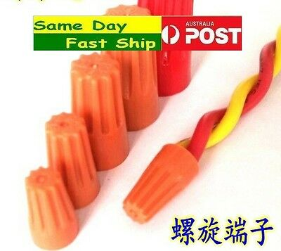20 x Screw On Wire Connectors Joiner Small Barrel Nut size P1 P2 P3 P4 fast ship