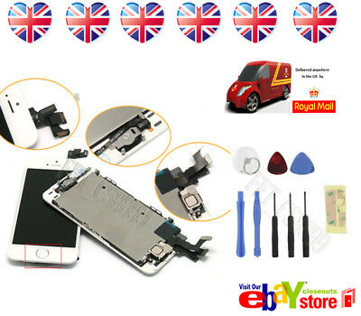 New White iPhone 5S LCD Touch Screen Digitizer Replacement Home Button Camera UK