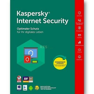 Kaspersky Internet Security 2 PC Geräte GreenIT Vollversion für 2018 2017 2016