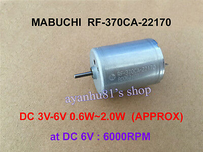MABUCHI RF-370CA-22170 DC 3V 6V 6000RPM Micro Carbon Brush Motor for toy Parts