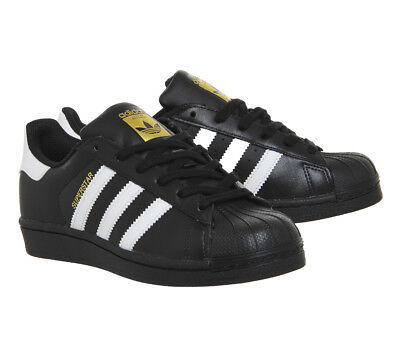Adidas Superstar 1 BLACK WHITE FOUNDATION Trainers Shoes