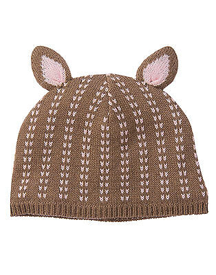 GYMBOREE Squirrel Cutie Sweater Hat//Cap Lavender w//Stem Size 6-12 mos NEW