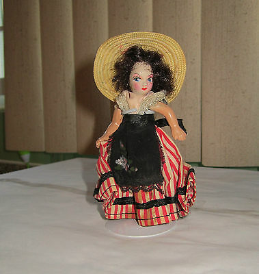 "4"" Lady, Old Paint Bisque, All Jointed, Comes with plastic case and Stand"