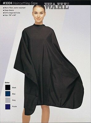 Wahl Microfiber & Water Resistant Haircutting Salon Cape 3004 (Black)