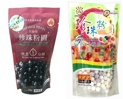 UK Seller! Wufuyuan Tapioca Pearl 250g Black and Colour for Bubble tea drink