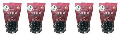 5 Packs of Wufuyuan Black Tapioca Pearl 250g for Bubble Tea Drink Boba Milk tea