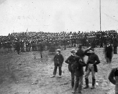 New 8x10 Civil War Photo: Crowd at Gettysburg Soldier's Cemetery Dedication 1863