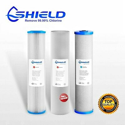 "Triple 20"" x 4.5"" Big Blue Whole House Water Filter Replacement Pack (3 Stages)"