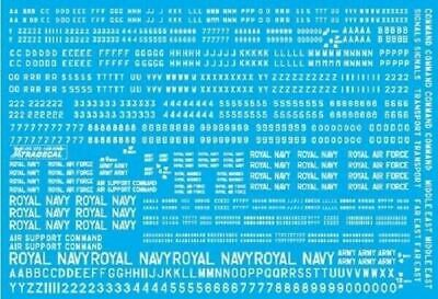 Xtradecal X72158 1/72 RAF 4, 6, 8 and 12 inch White Letters, Numerals and Titles