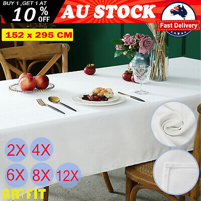New Rectangle Polyester Tablecloth Black White Banquet Wedding Event