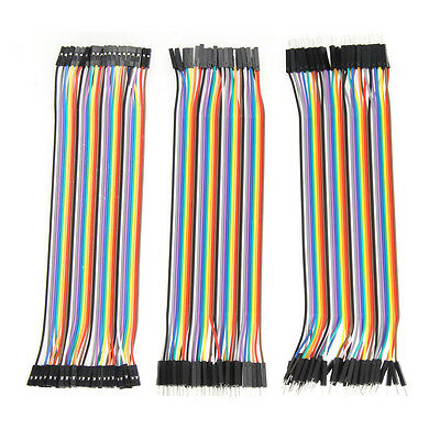 120pcs 20cm Dupont Wire M/M + Male to Female + Female to Female Jumper Cable New