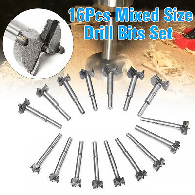 16pcs/Set Drill Bits Professional Forstner Woodworking Hole Saw Cutter 15-35mm